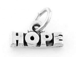 Sterling Silver Hope Charm Pendant - $8.59