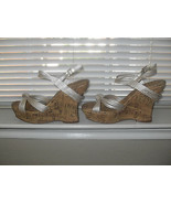 Jessica Simpson New Sexy Ivory Strappy Wedge Sandals Heels Medium (B,M) ... - $47.99