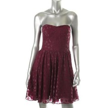 Guess New Purple Lined Chiffon Strapless Cocktail Dress  12   $138 - $31.00