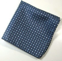 ULTRA RARE Rich Metallic Navy Silver Red Diamonds Pocket Square Handkerc... - €52,22 EUR