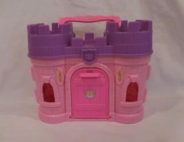 Fisher Price Little People Disney Princess castle pink purple carry along people - $22.42