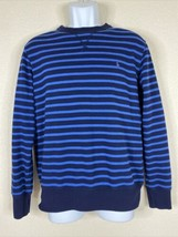 Polo Ralph Lauren Men Size M Blue Striped Light Knit Sweater Long Sleeve - $23.76