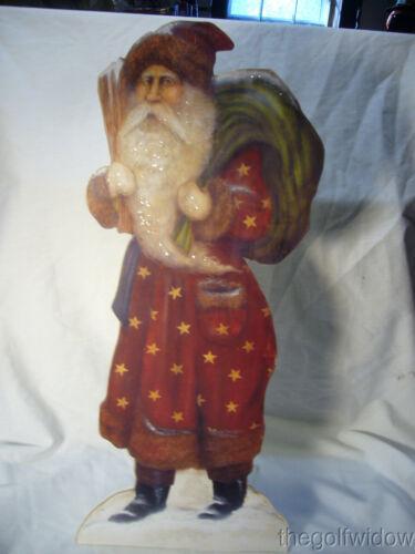 Bethany Lowe Santa with Star Coat Dummy Board 20 Inches