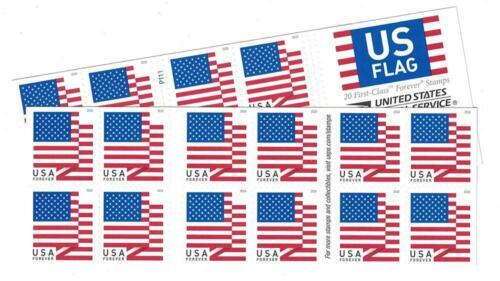 USPS US Flag Forever Stamps - 40 (Two Books of 20) Packaging May Vary,...