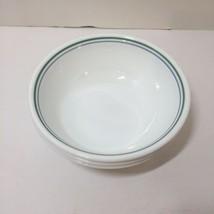 "3 Cereal Bowls Corelle Country Cottage Green Lavendar Bands 6.25"" - $19.34"