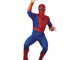 Marvel Incredible Spiderman Peter Parker Fancy Dress Costume Men's Adult Size