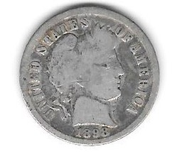 Nice 1898 Barber dime. - $4.00