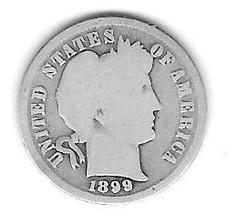 Nice 1899 Barber Dime. - $4.00