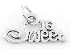 STERLING SILVER SWEET 16   CHARM PENDANT - $8.59
