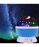 Rotating Star Projector Novelty Lighting Moon Sky Rotation Kids Baby Nur... - $35.44