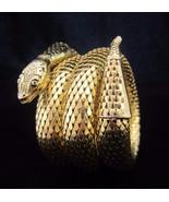 Vintage WHITING & DAVIS Gold Mesh Triple Coil S... - $150.00