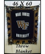 Wake Forest University Fleece Throw Blanket 46 ... - $22.00