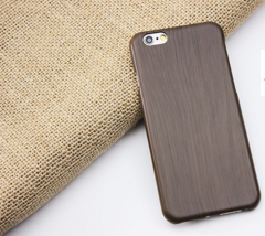 Taupe Wood Grain Thin Hard Plastic Back Case Cover for Apple iPhone 6 & 6S - $4.88