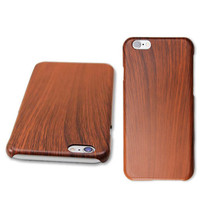 Brown Wood Grain Thin Hard Plastic Back Case Cover for Apple iPhone 6 & ... - $4.00