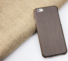 Taupe Wood Grain Thin Hard Plastic Back Case Cover for Apple iPhone 6 & ... - $4.88