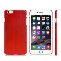 Red Wine Wood Grain Thin Hard Plastic Back Case Cover for Apple iPhone 6... - $4.00