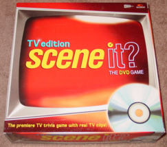 Scene It Dvd Game Tv Edition Trivia 2004 Mattel Screenlife Lightly Played Condi - $15.00