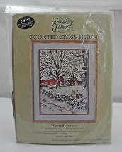 "Something Special ""Winter Scene"" Counted Cross Stitch Kit - New Sealed in Pkg - $18.95"