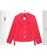 LADIES R.Q.T. JACKET SIZE PM QUILTED LIGHTWEIGHT RED NWT - $24.49