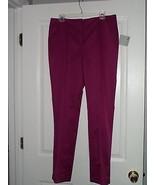 FOCUS 2000 DRESS PANTS SIZE 12 SATIN SHEEN MAGENTA  NWT - $18.99