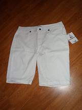 Caribbean Joe Bermuda Shorts Size 16 P White Msrp: $44.00  Nwt - $20.79