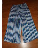 ZAC & RACHEL PALAZZO PANTS SIZE M COVEUP BLUE WHITE STRIPE NWT - $20.49