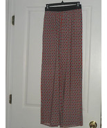 ESPRESSO COVER UP PALAZZO PANTS SIZE S RED PRINT NWT - $17.99