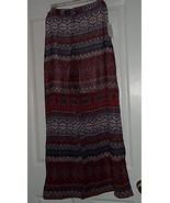 MLLE GABRIELLE PALAZZO PANTS SIZE XL COVEUP RED BLUE PRINT NWT - $19.98