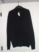 Perri Ellis Sweater Size L Mens Black Pullover Nwt - $22.99