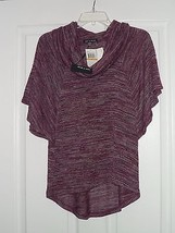 CABLE & GAUGE KNIT TOP SHIRT SIZE M STRETCH PURPLE MSRP:$48.00  NWT - $16.99
