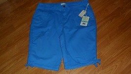 Caribbean Joe Bermuda Shorts Size 16 P Blue Lightweight Msrp: $42.00  Nwt - $17.99