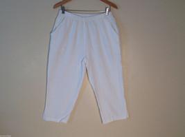 Cotton Connection womens capri pants elastic waist Size Small