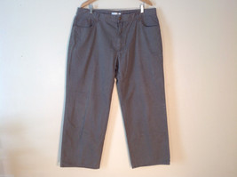 Men's Geoffrey Beene dark grey jeans size 42 x 32 wide pant leg image 1