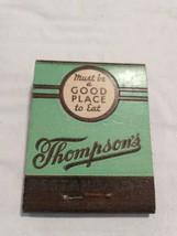 Vintage Thompsons Restaurants Full Unused Matchbook - $4.20