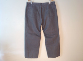 Men's Geoffrey Beene dark grey jeans size 42 x 32 wide pant leg image 2