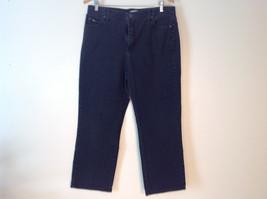 Womens' LEE Relaxed Straight Leg Black Denim Jeans Size 14 Short