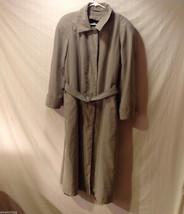 Women's Plus Size 14-14W Trench Rain Coat Tan Khaki Brown Julia Klein Trenchcoat