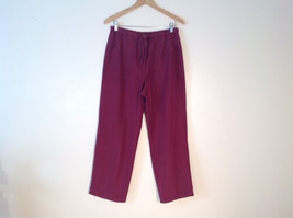 Womens Carribean Joe maroon burgundy elastic pants Size M