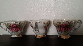 Lot of 3 children's EW Princess China tea cups porcelain pink Occupied J... - $14.00