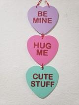 "Valentines Day Conversation Heart Hanging Sign Decor Decoration 20"" - $13.99"