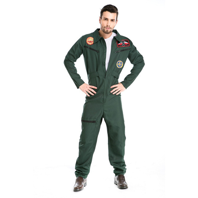 Top Gun Maverick Tom Cruise Green Fighter Pilot Adult Size ...