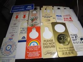 QTY. 18 Vintage Room Service Door Knob Sign Hangers-CAESAR'S, HILTON & MORE - $7.43
