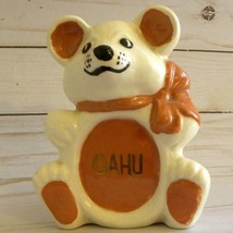 Vintage Retro Kitsch White Bear Ceramic Oahu Stomach Hand Painted Signed... - $24.00