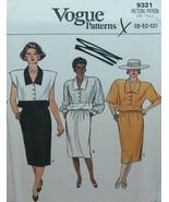 Vogue Sewing Pattern 9321 Misses Dress Size 8 10 12 Vintage - $14.50