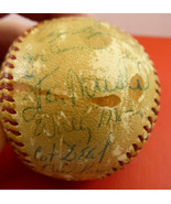 1954 St Louis Cardinals Team Signed Baseball Stan Musial 29 Sigs Game Used - $519.75