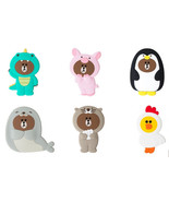 LINE Friends Jungle Silicone Hand Mirror Makeup Cosmetic Pocket Compact ... - $19.98