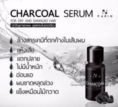 Parin Charcoal Hair Serum Treatment Reduce Hair Loss Dry & Damage Hair 15ml. - $17.02
