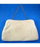 Elegant Pearl Seed Beaded Purse Retro 1950-1960s Hong Kong Glamour Conve... - $38.00
