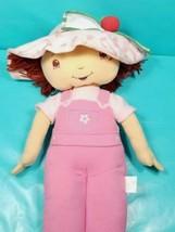 Strawberry Shortcake Plush Stuffed Pink Overalls Rag Doll Pillow Giant L... - $49.49