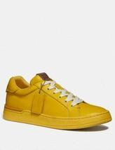 Coach G5041 Lemon Yellow Lowline Luxe Low Top Leather Sneaker Size 7 - $133.65